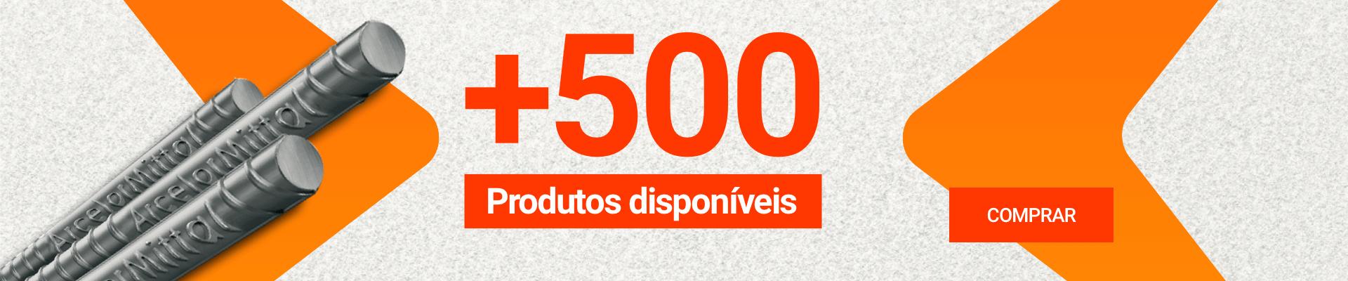 Mais de 500 produtos
